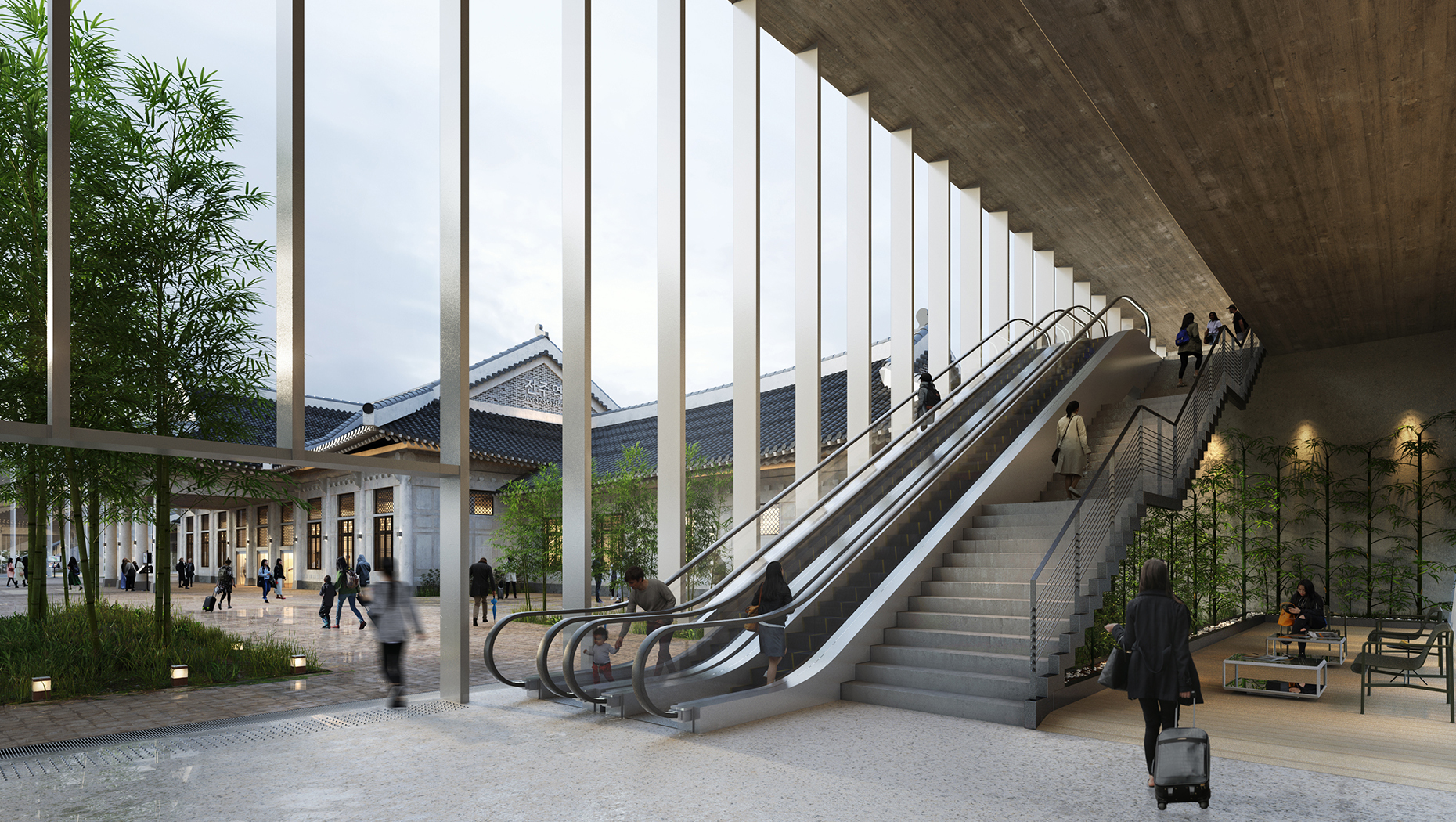 20190910 Jeonju Station Interior Perspective 01